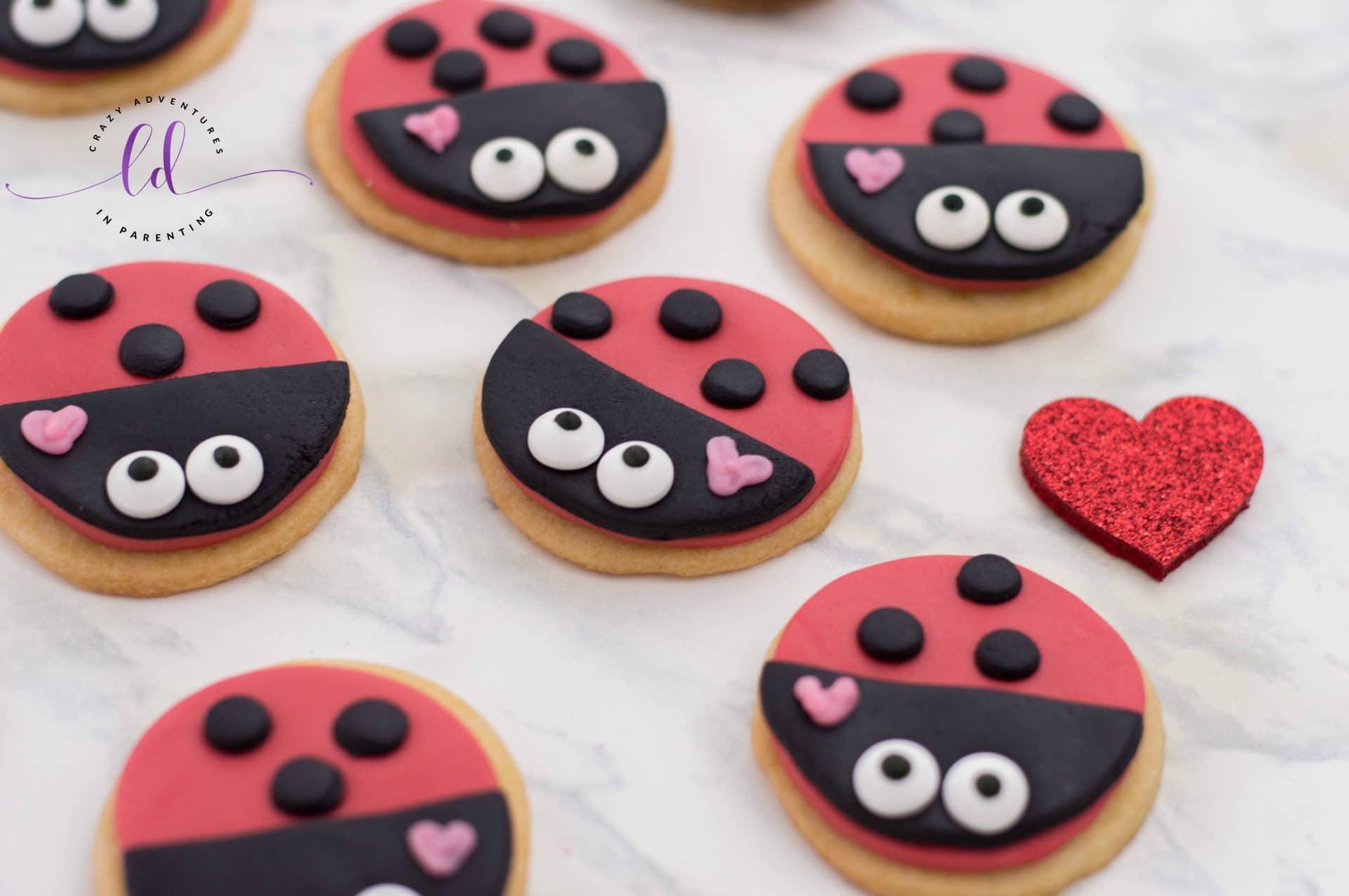 Adorable Lovebug Ladybug Cookies