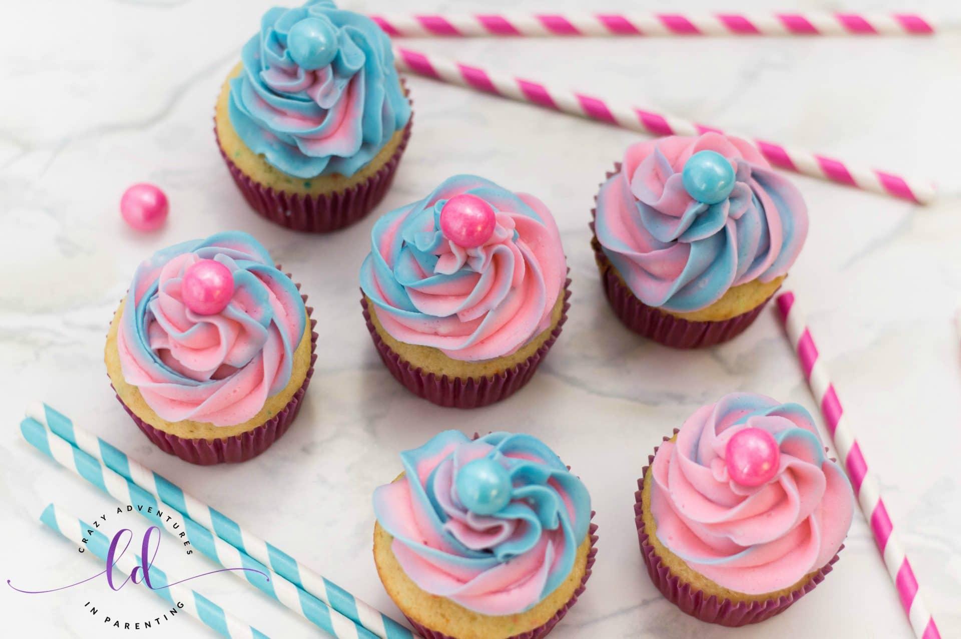 Easy Bubblegum Cupcakes