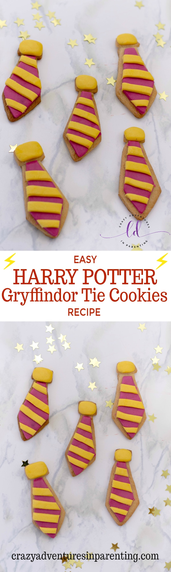 Easy Harry Potter Gryffindor Tie Cookies Recipe