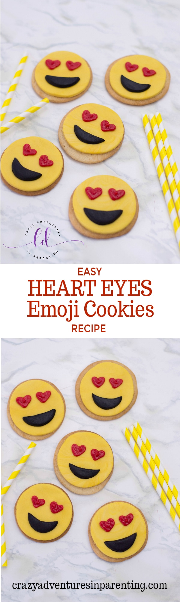 Easy Heart Eyes Emoji Cookies Recipe