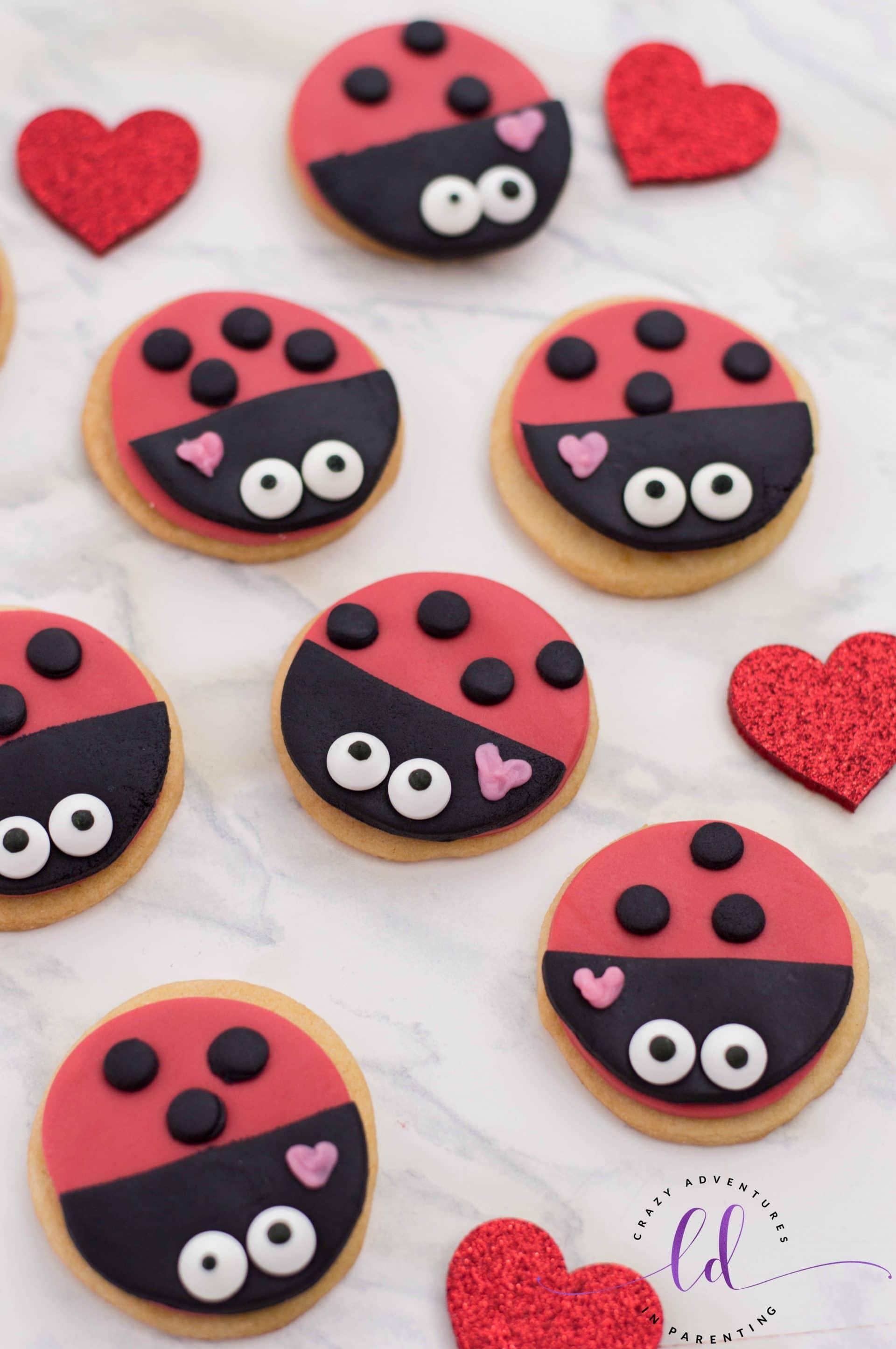 Easy Lovebug Ladybug Cookies