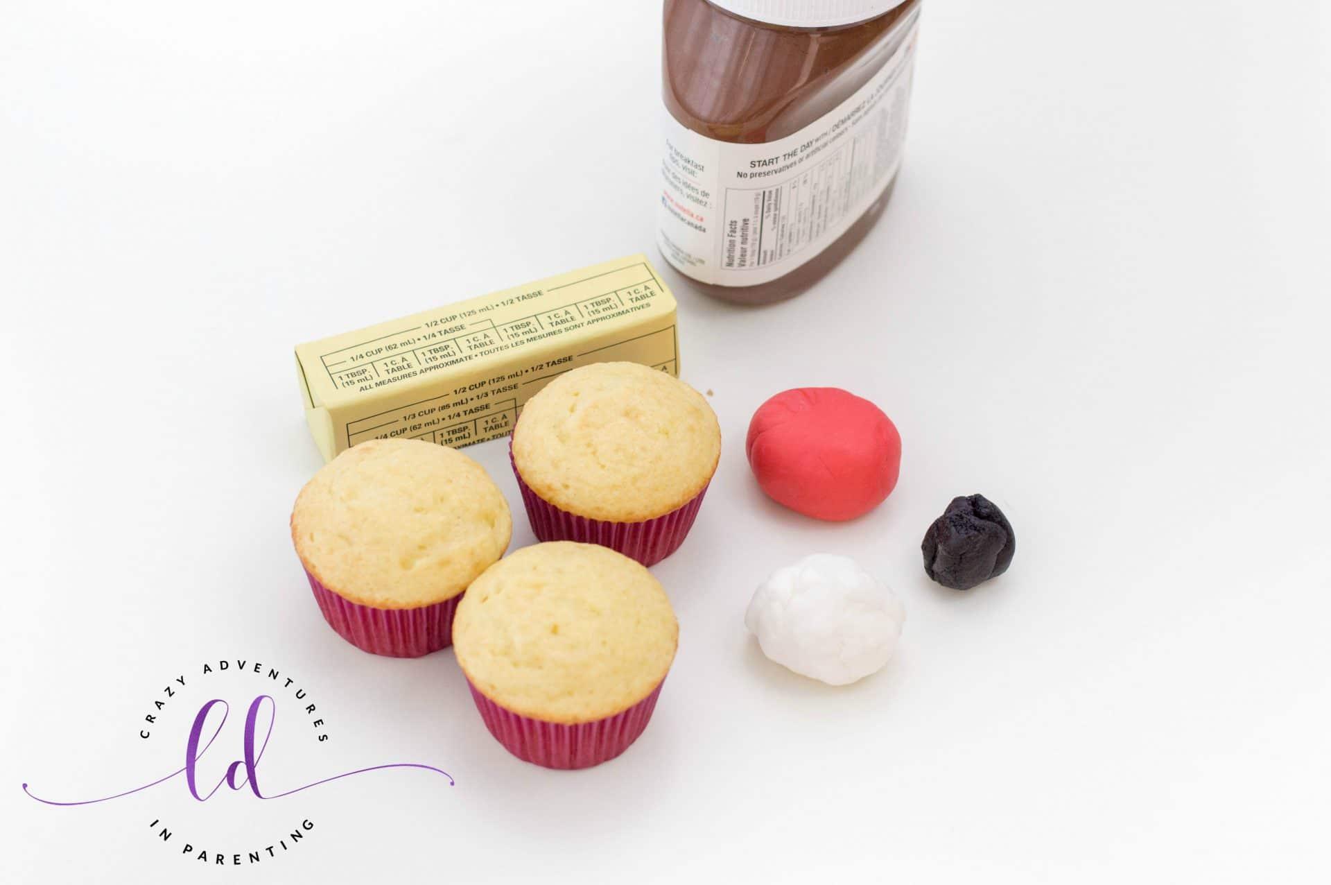 Ingredients to Make Poop Emoji Cupcakes