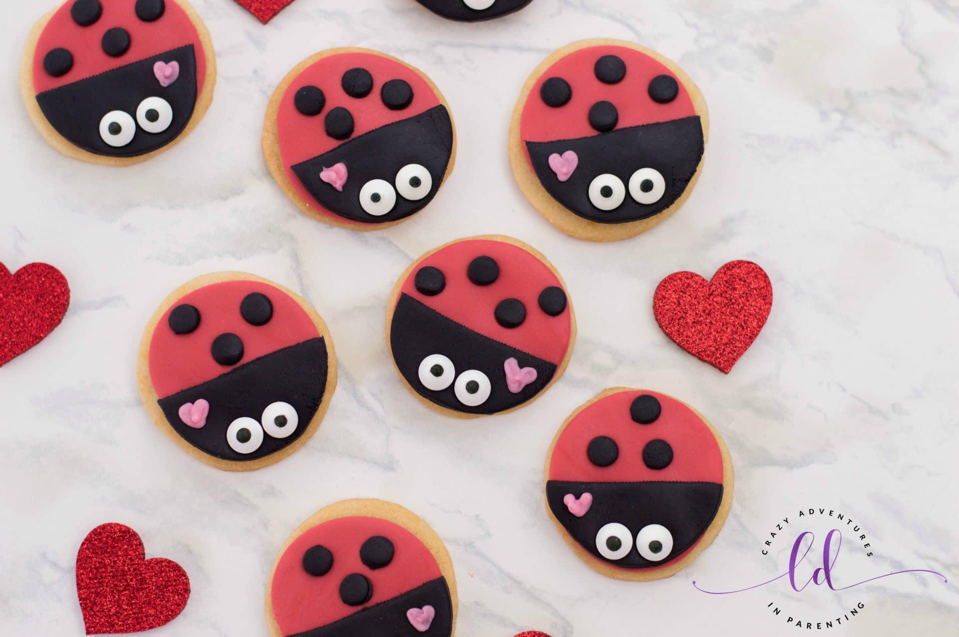 Lovebug Ladybug Cookies for Valentine's