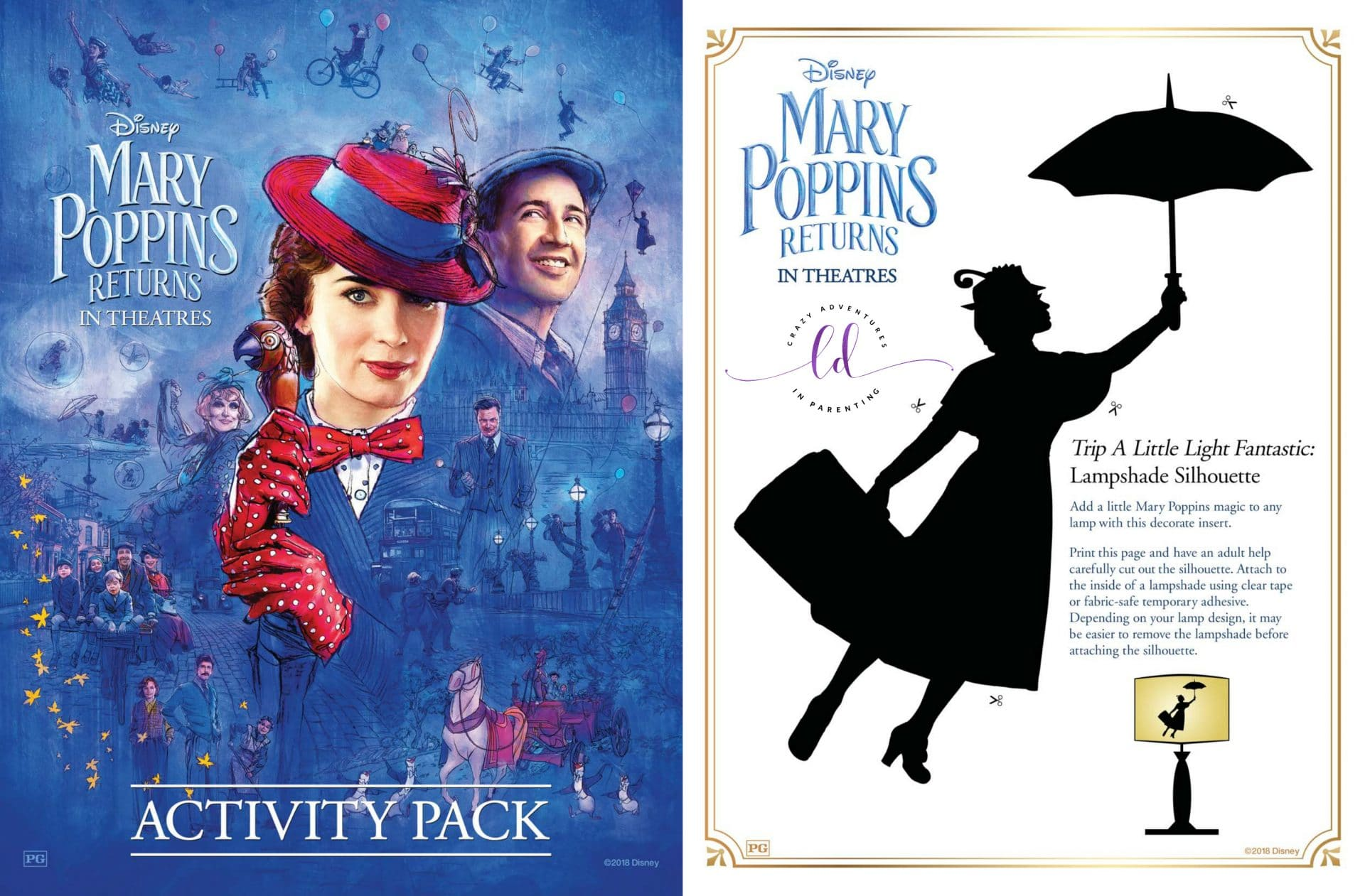 Mary Poppins Returns Coloring Pages