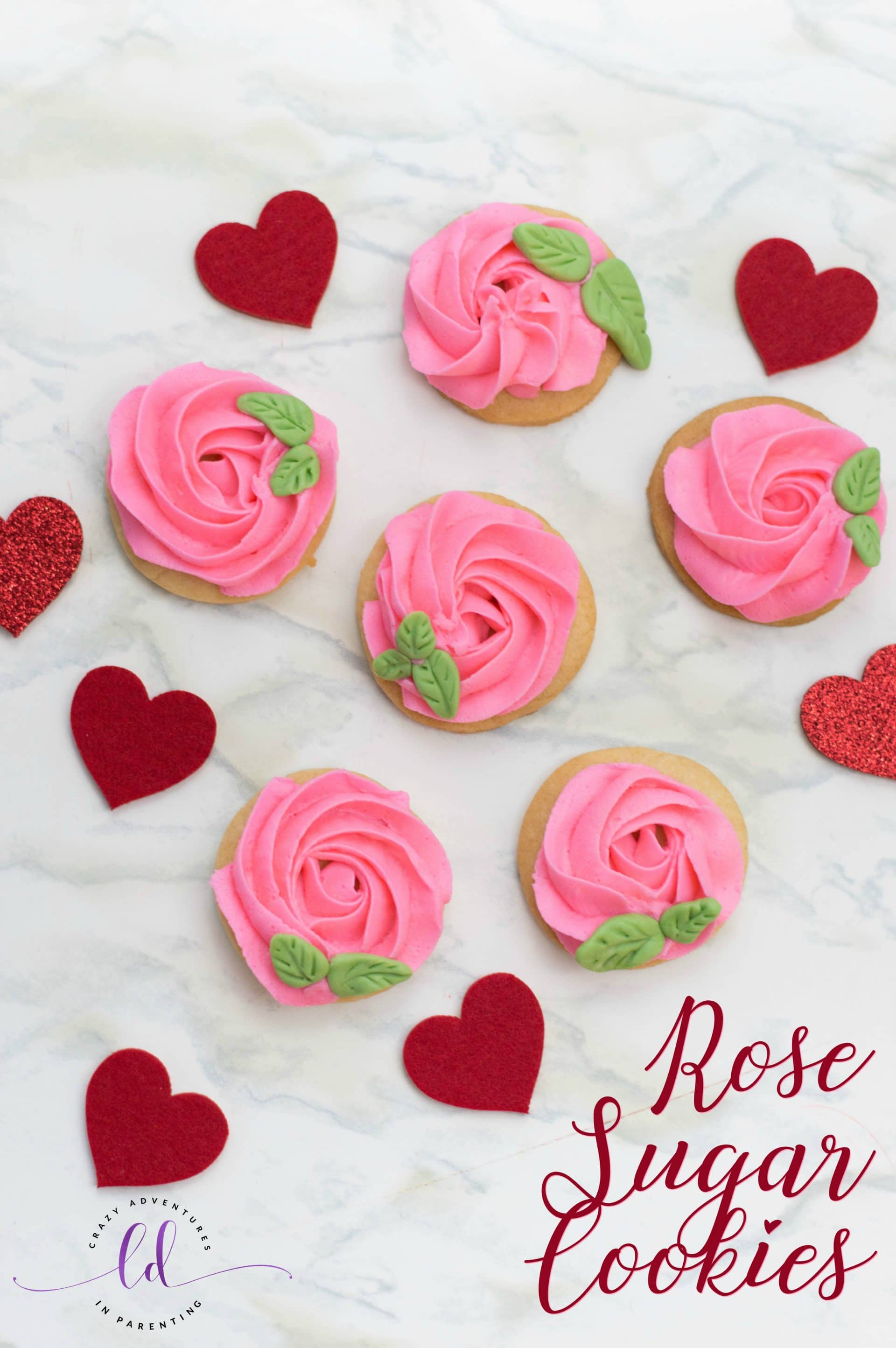 Rose Sugar Cookies