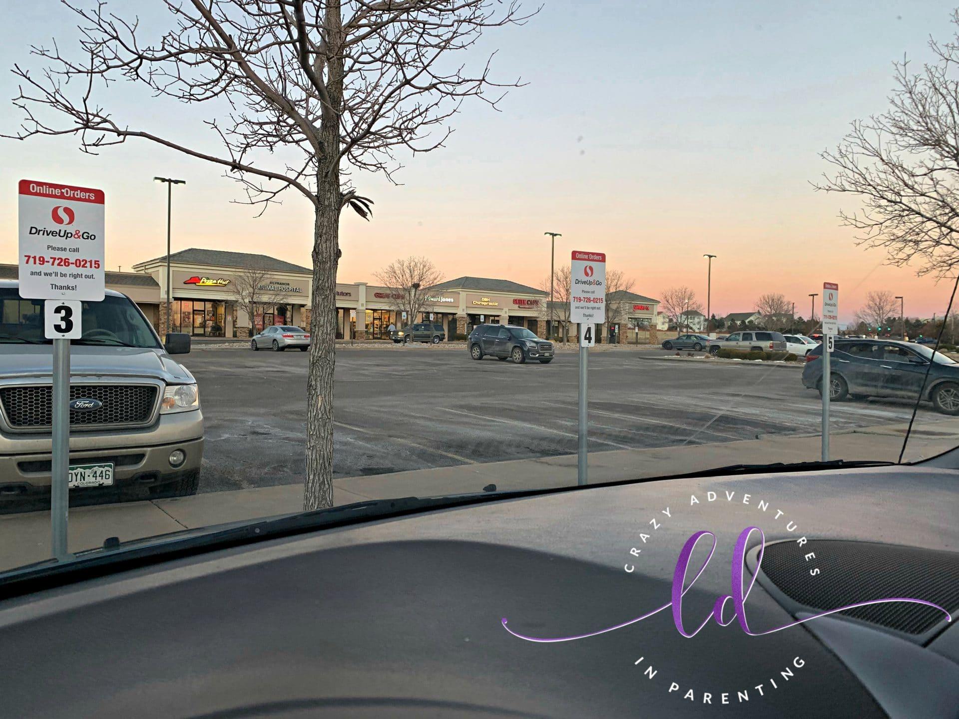 Safeway Drive Up & Go Parking Spots