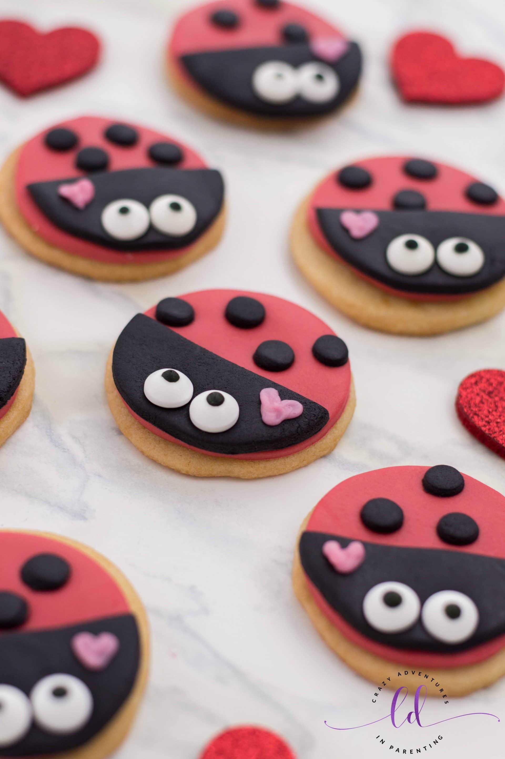 Valentine's Lovebug Ladybug Cookies