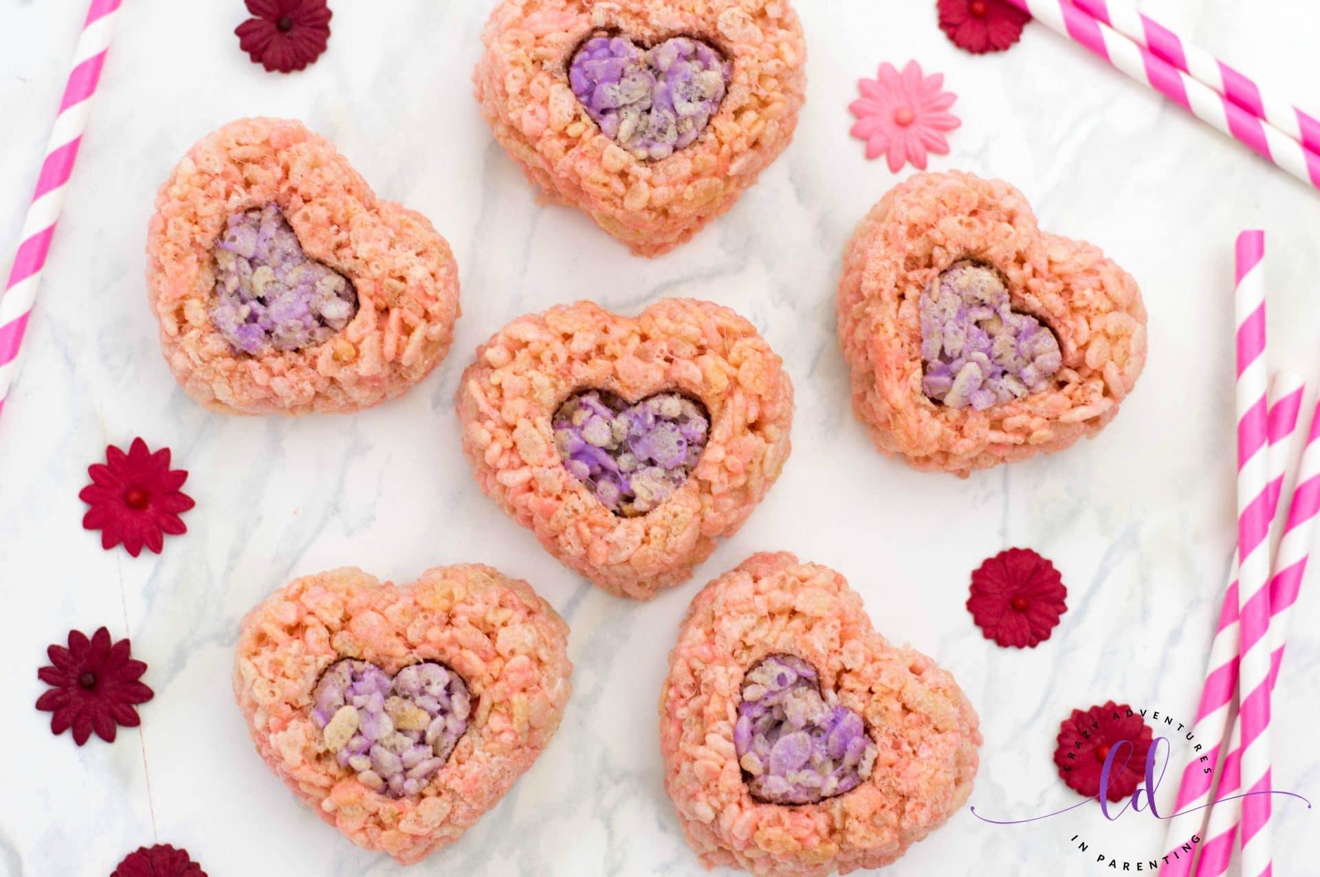 Valentine's Rice Krispies Treats Hearts