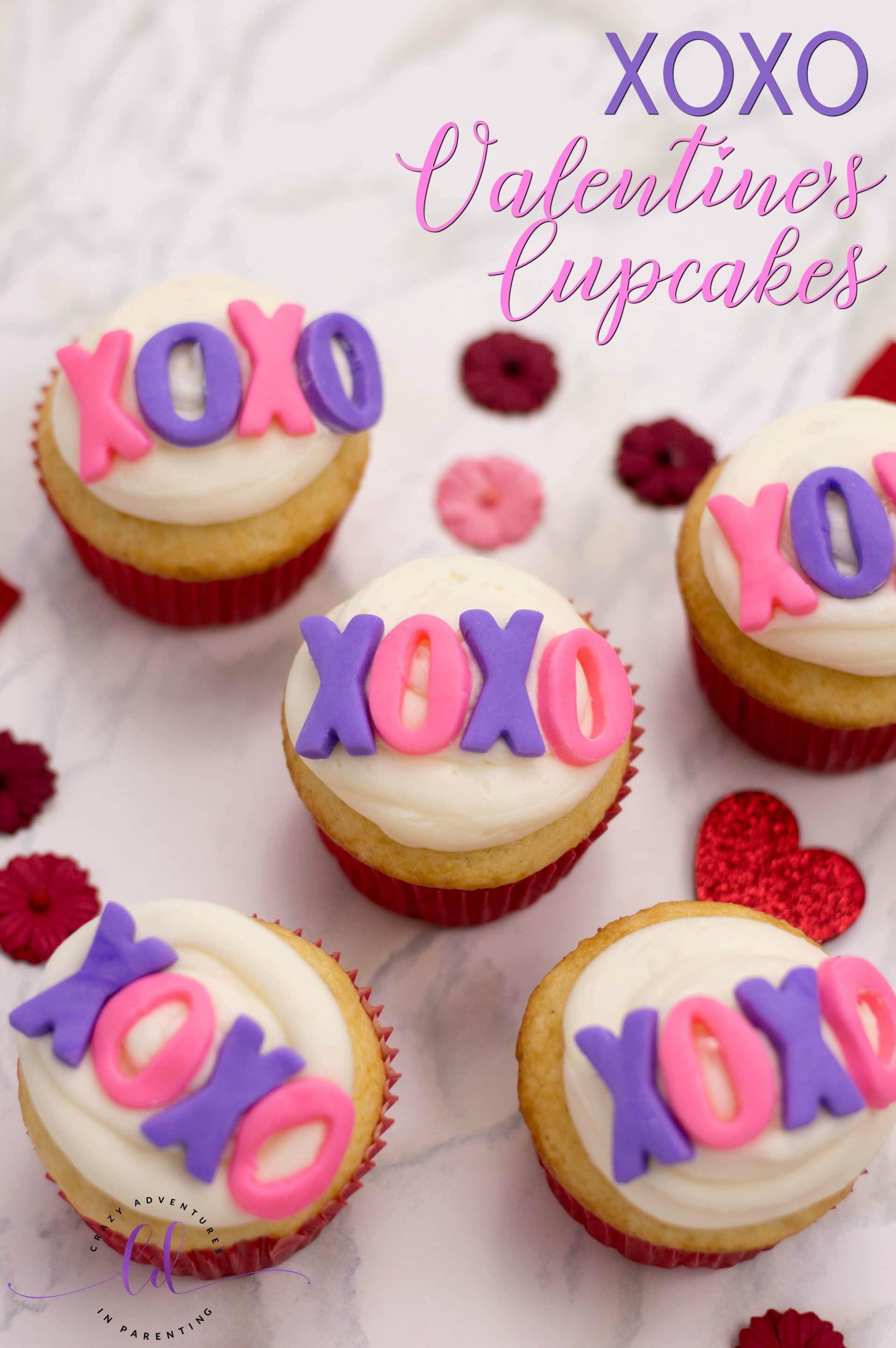 XOXO Valentine's Cupcakes