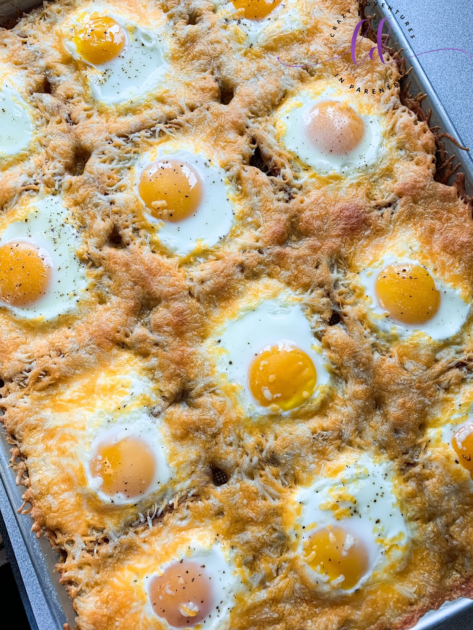 Sheet Pan Cheesy Baked Egg Toast