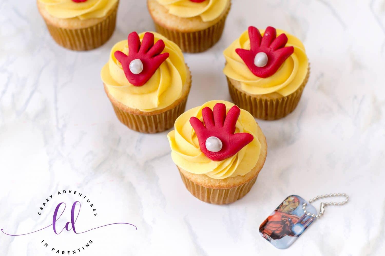 Easy Iron Man Cupcakes