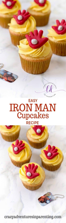 Easy Iron Man Cupcakes Recipe