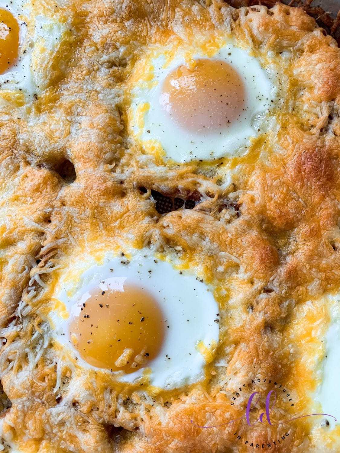 Easy Sheet Pan Cheesy Baked Egg Toast