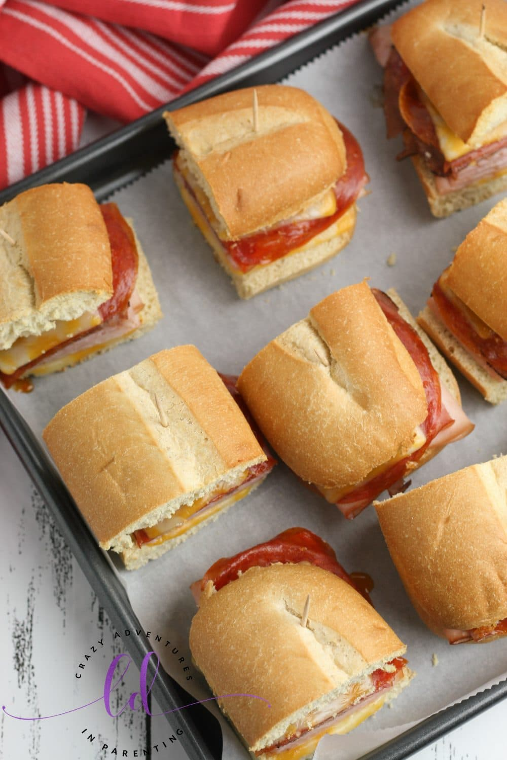 Fresh From The Oven Mini Party Subs