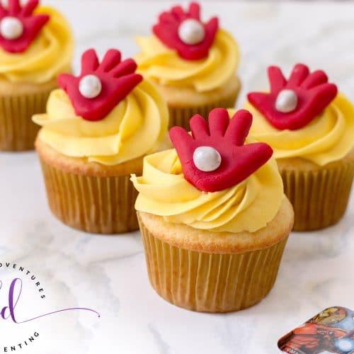 Gorgeous Iron Man Cupcakes