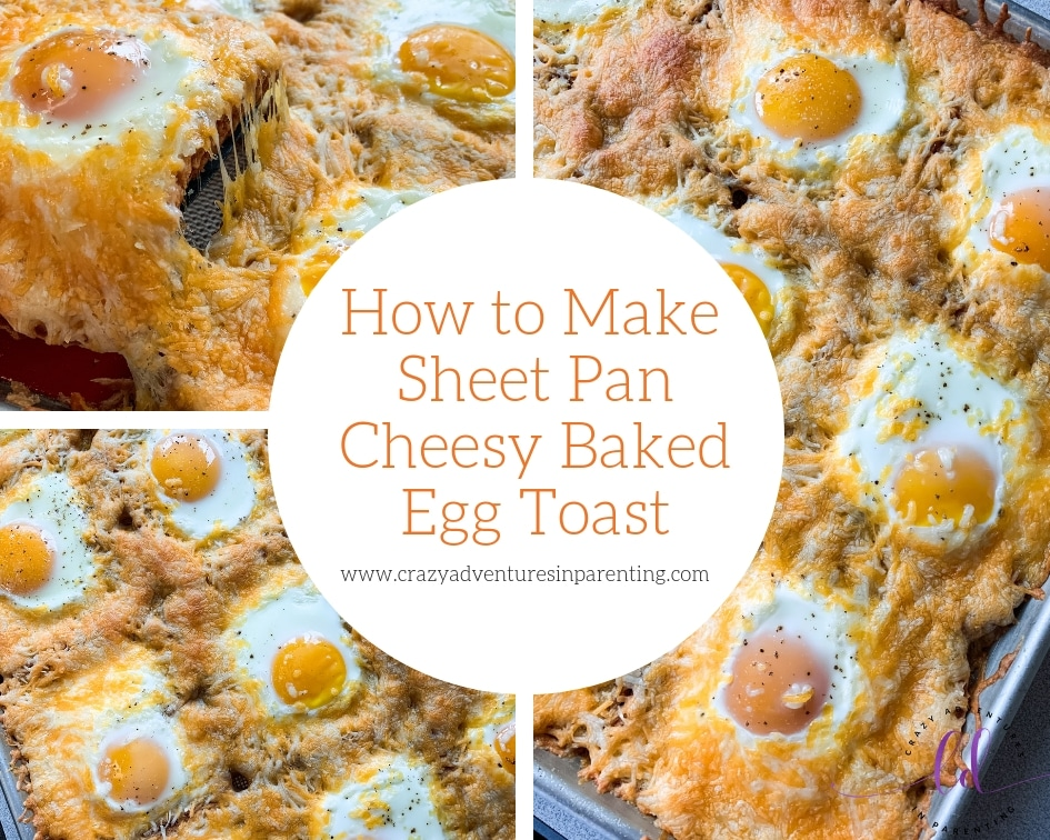 How to Make Sheet Pan Cheesy Baked Egg Toast