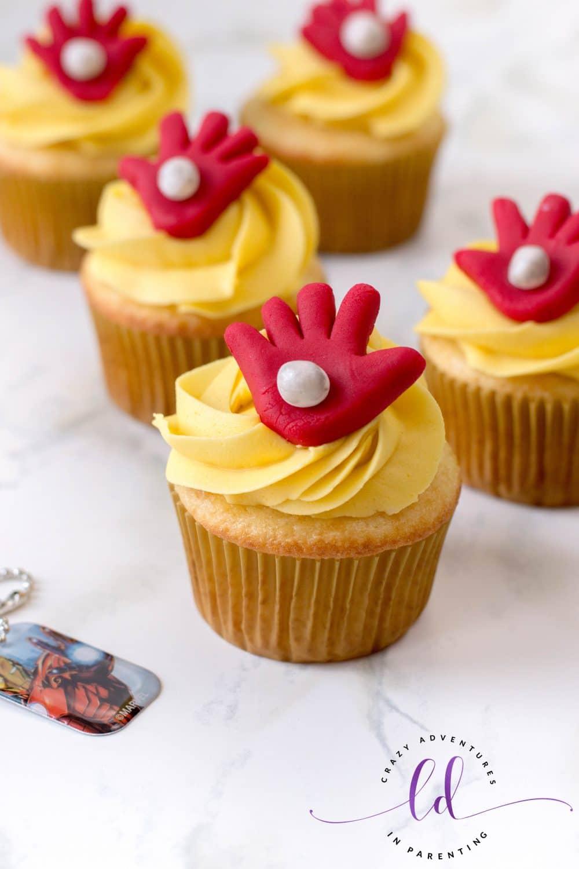 Iron Man Cupcakes for Birthdays