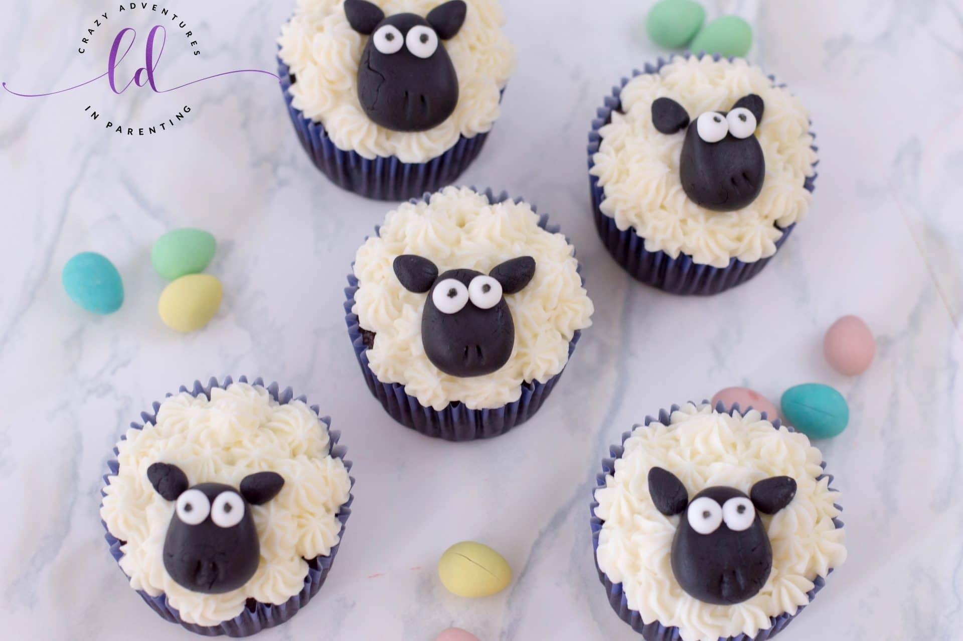Sheep Cupcakes Crazy Adventures In Parenting