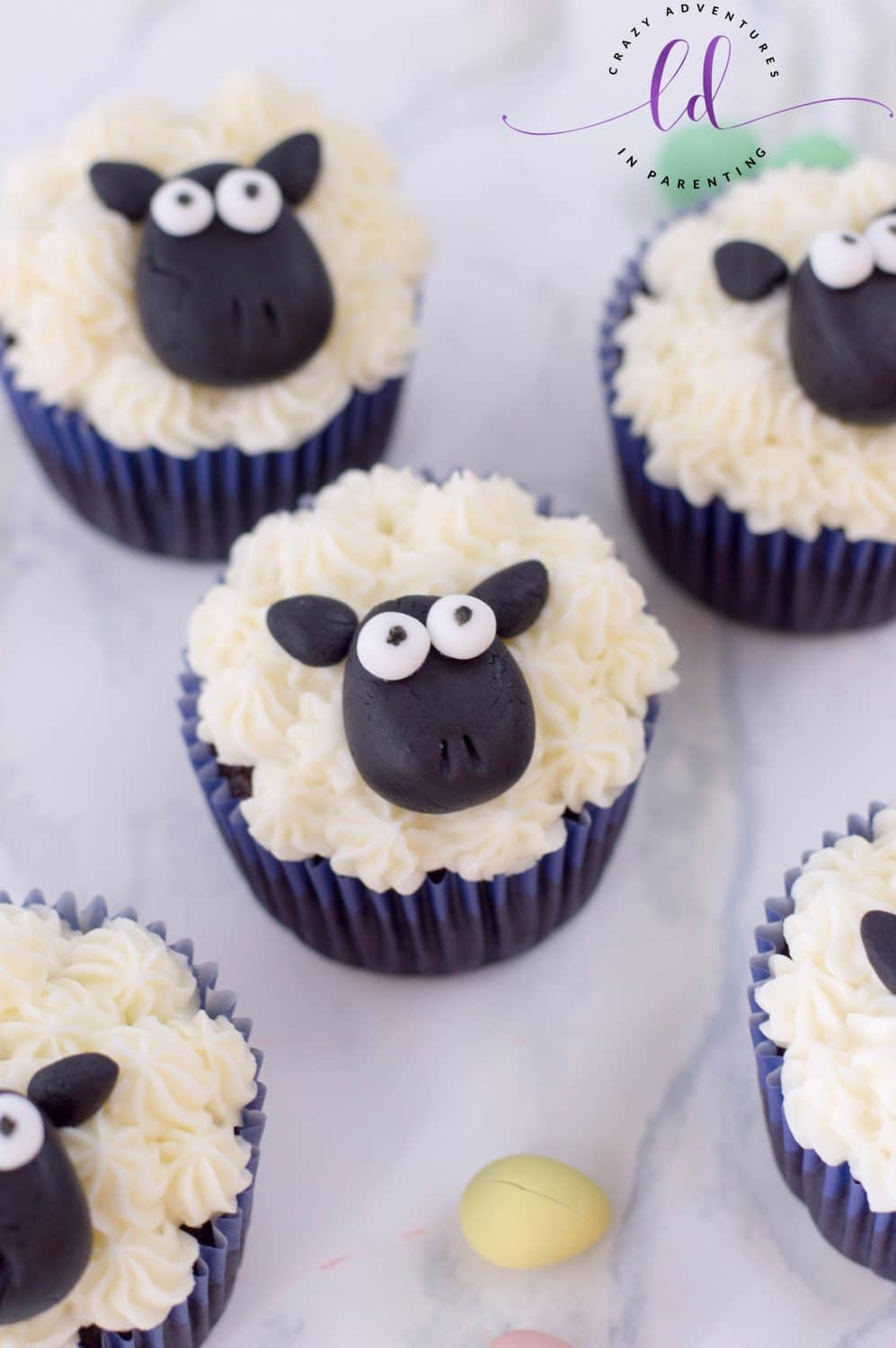 Sheep Cupcakes for Easter