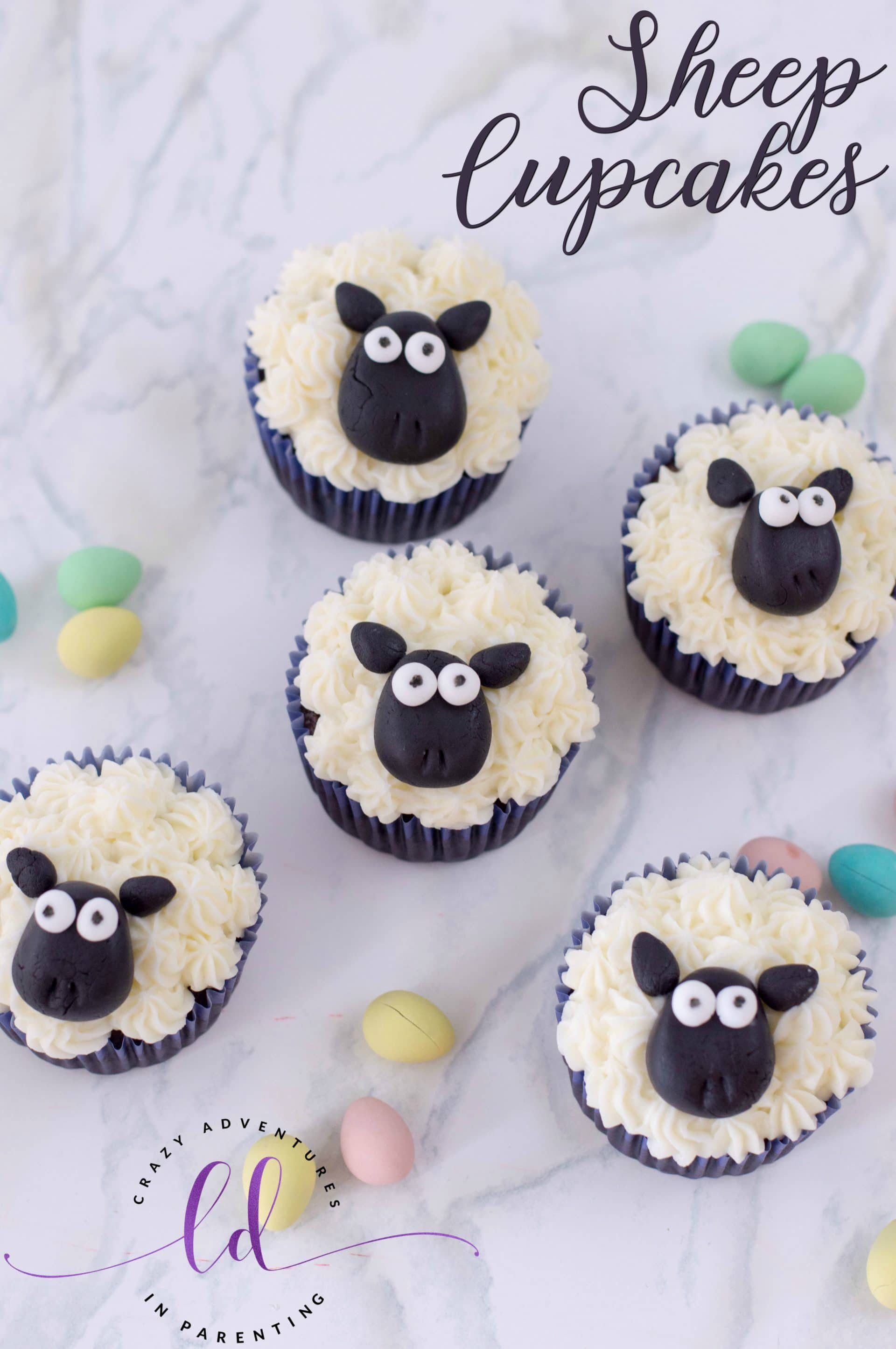 Sheep Cupcakes Crazy Adventures In Parenting