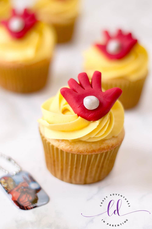 Super Hero Iron Man Cupcakes