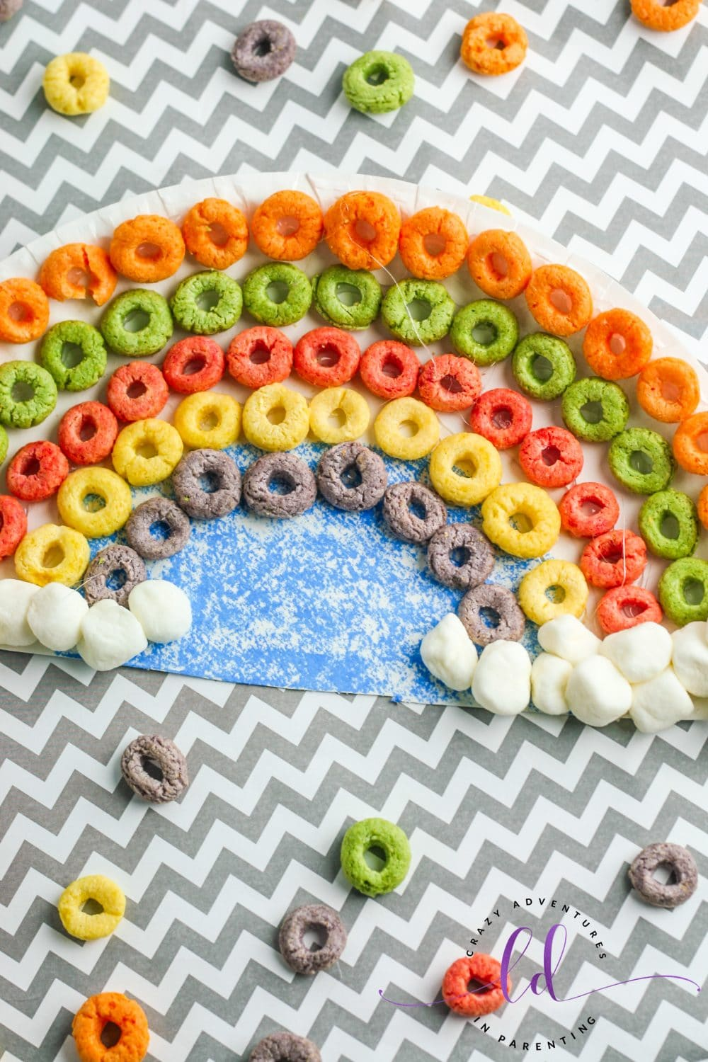 Cereal Rainbow Craft for Kids