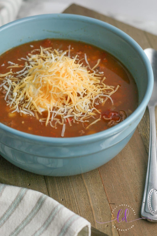 Cheesy Easy Taco Soup