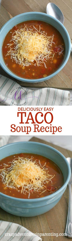 Deliciously Easy Taco Soup Recipe