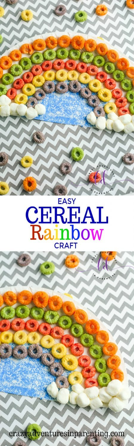 Easy Cereal Rainbow Craft