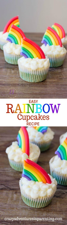 Easy Rainbow Cupcakes Recipe