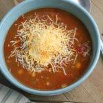 Easy Taco Soup Bowl