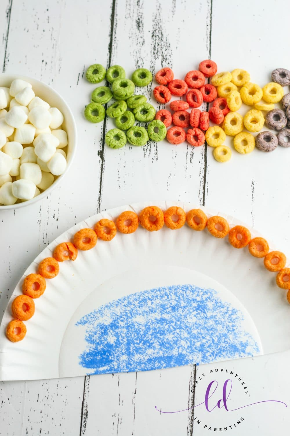 First Row of Cereal for Cereal Rainbow Craft