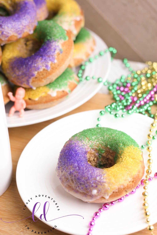 King Cake Doughnuts Served