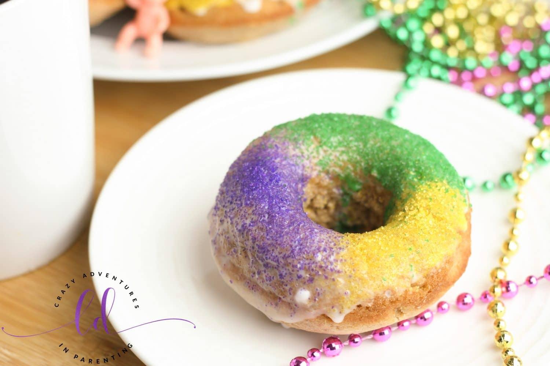 King Cake Doughnuts close up