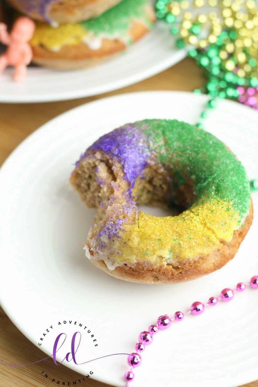 Perfect King Cake Doughnuts