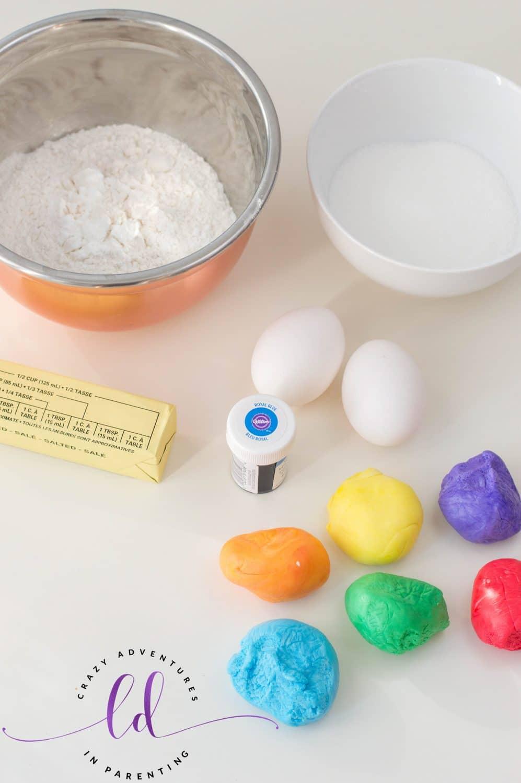 Rainbow Cupcakes Ingredients Needed