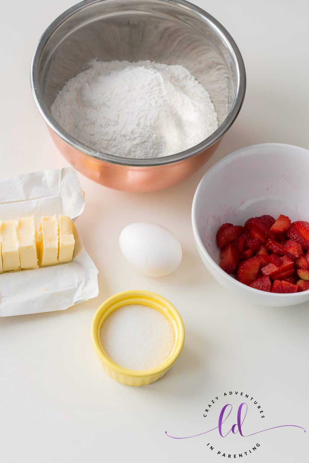 Ingredients to Make Strawberry Scones