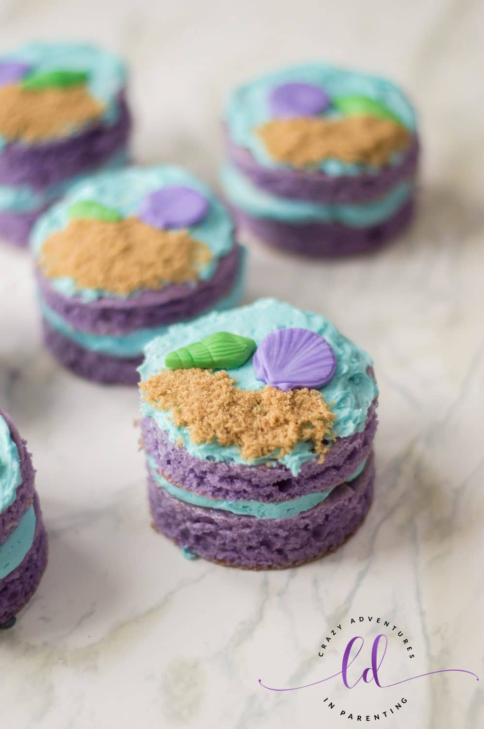 Mermaid Mini Cakes