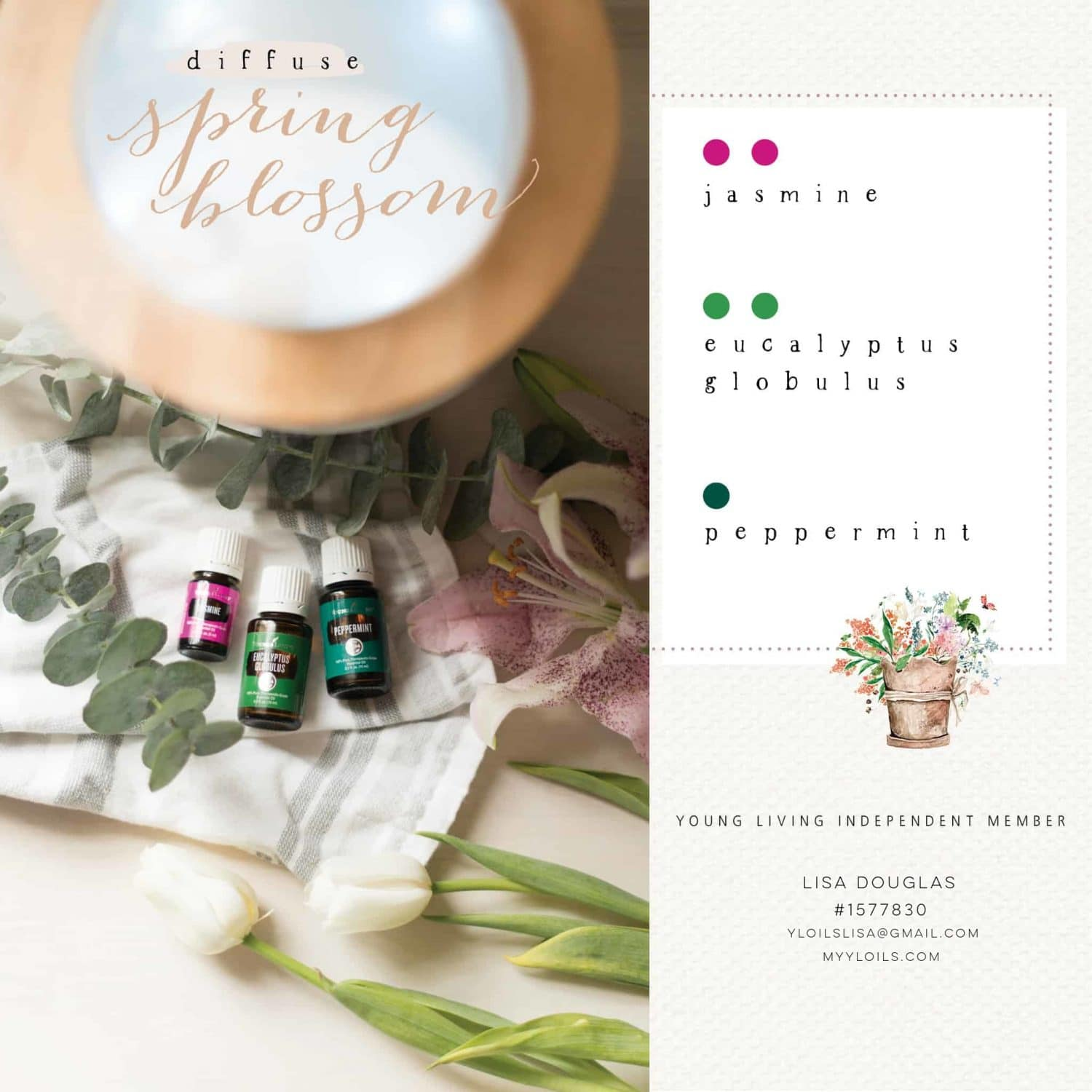 Spring Blossom Young Living DIffuser Recipe