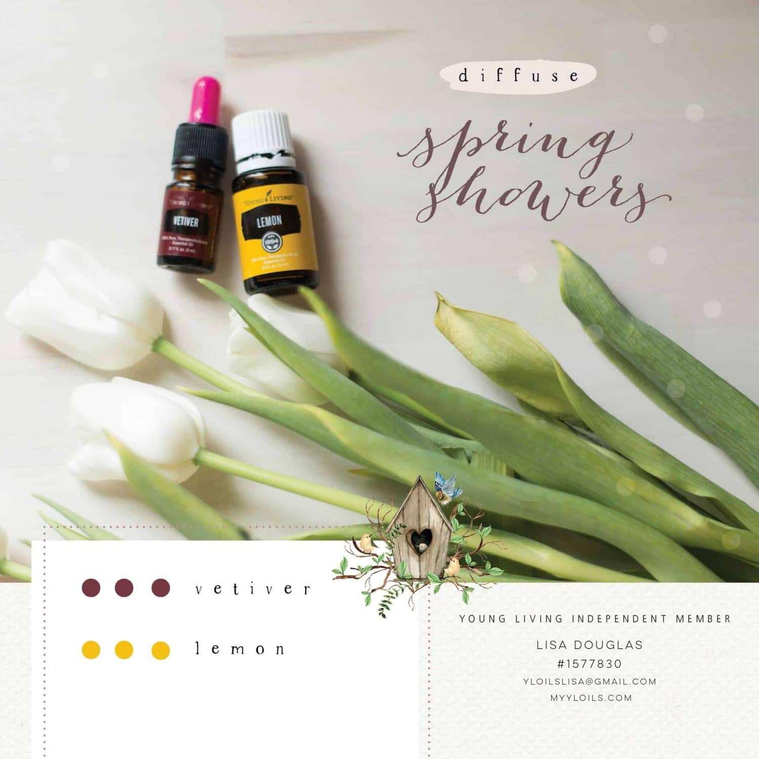 Spring Showers Young Living Diffuser Recipe
