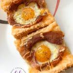 Bacon Cheesy Baked Egg Italian Toast