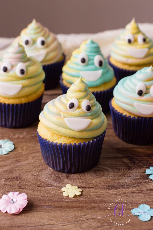 Tie-Dye Poop Emoji Cupcakes Recipe