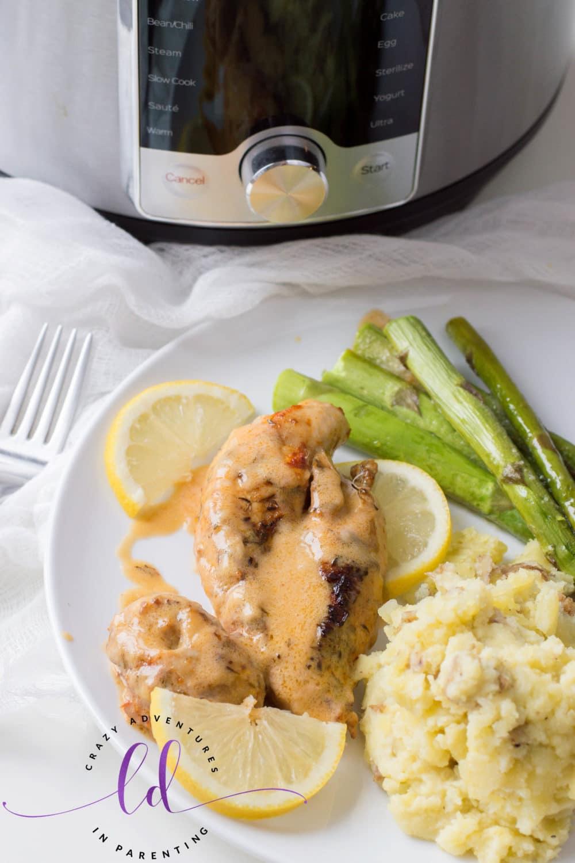 Instant Pot Lemon Butter Chicken Recipe for Dinner