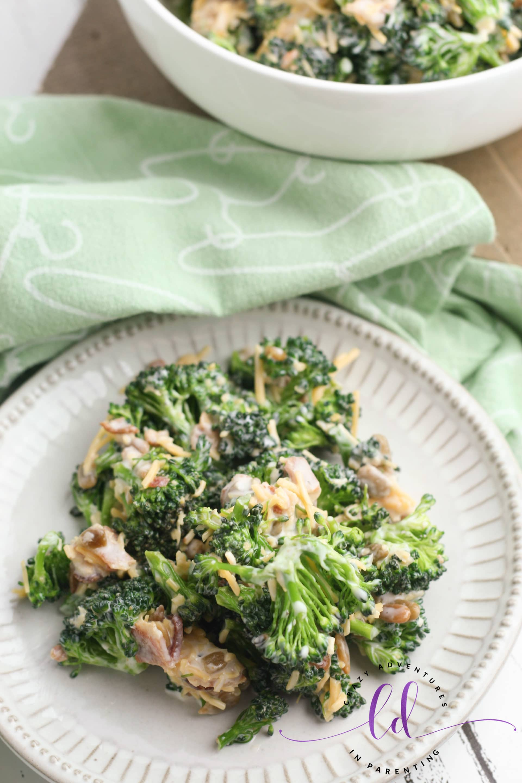Easy Broccoli Salad with Bacon Side Dish