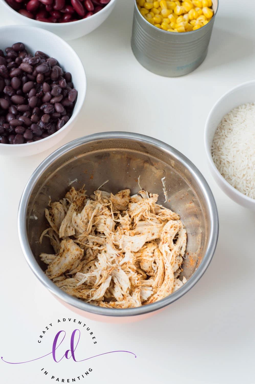 Shredded Chicken for Instant Pot Chicken Taco Bowl Recipe