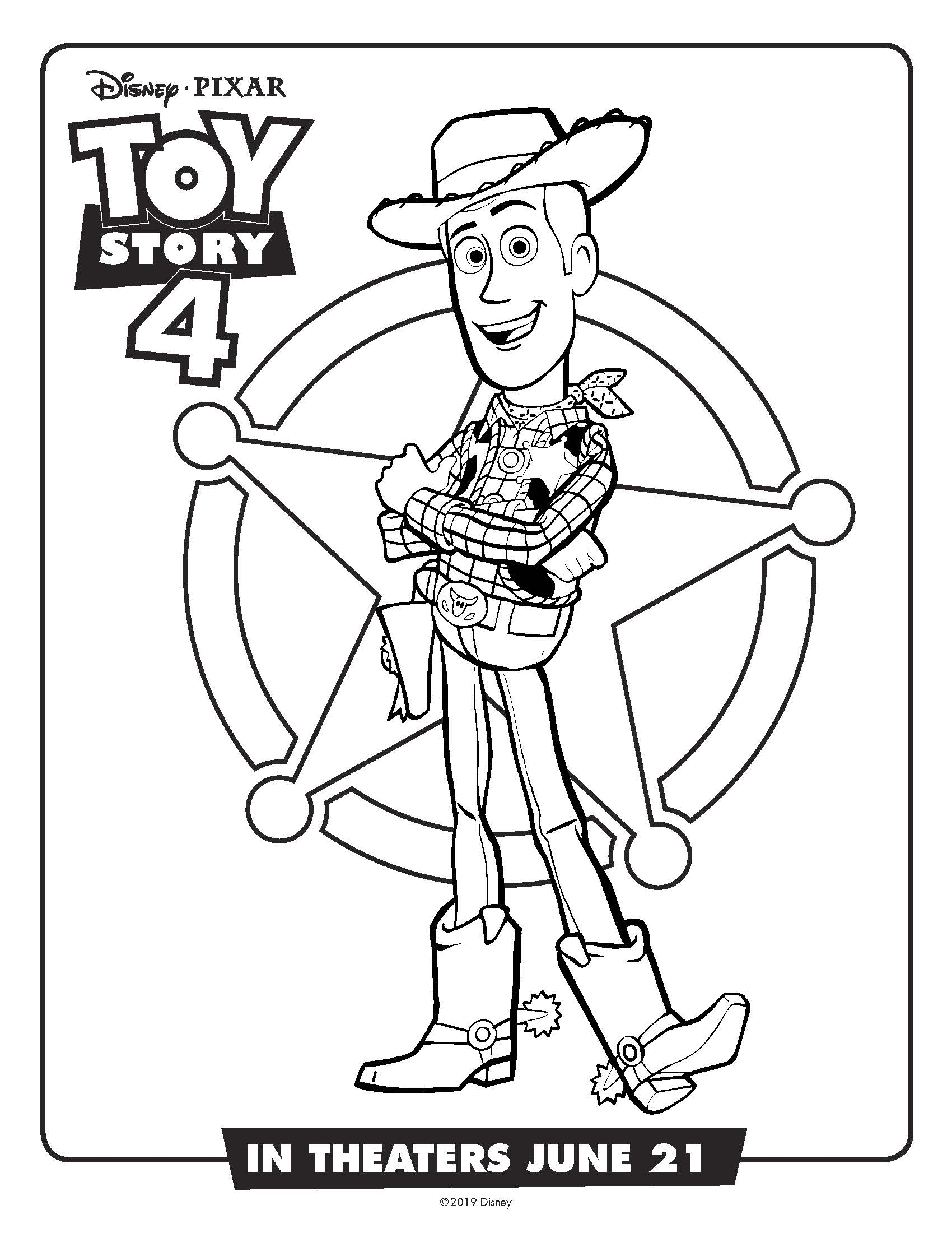 Toy Story 4 Coloring Pages and Activity Sheets Crazy