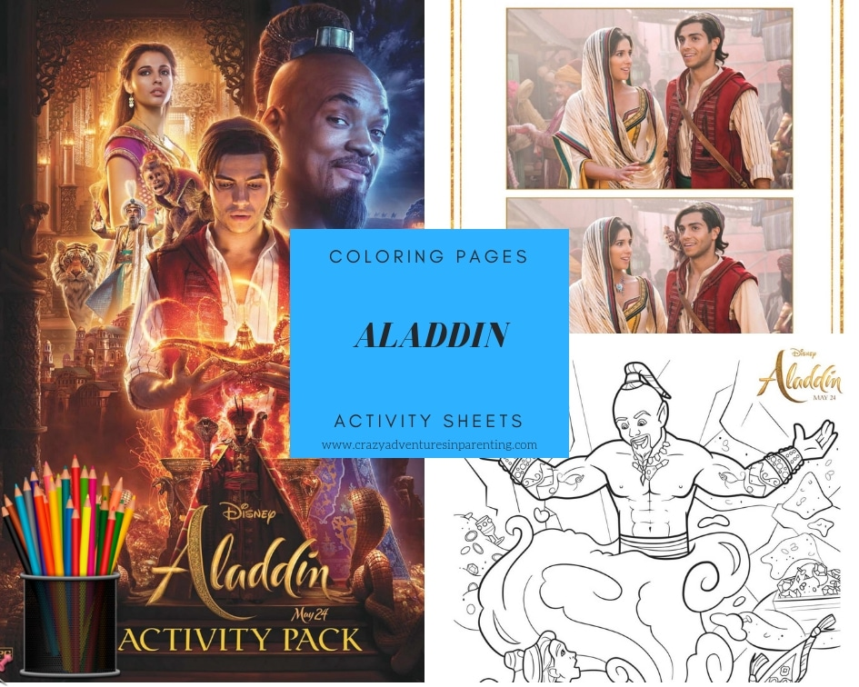 Aladdin Coloring Pages and Activity Sheets to Print