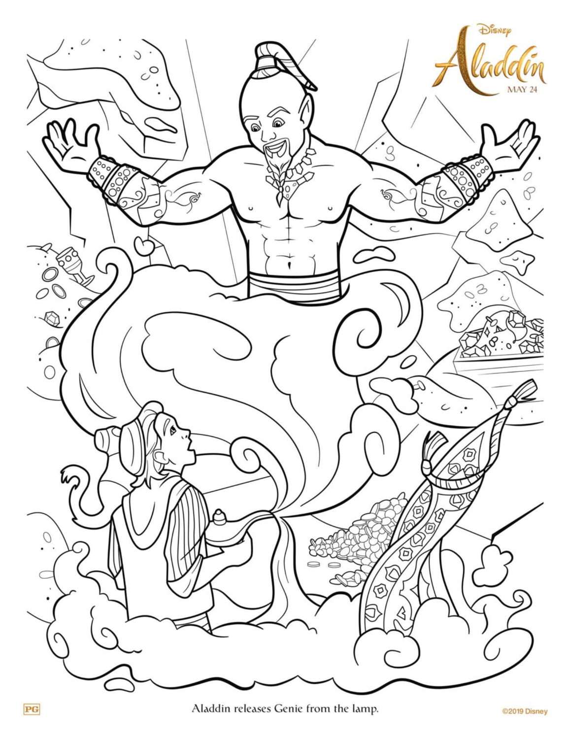 Genie Lamp Coloring Page Photo Album - Sabadaphnecottage