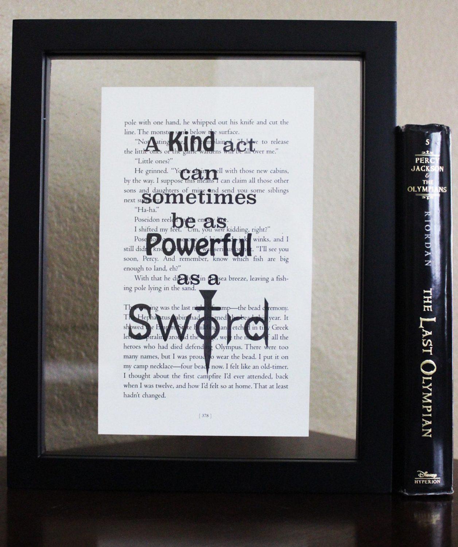 Percy Jackson Book Quote Art