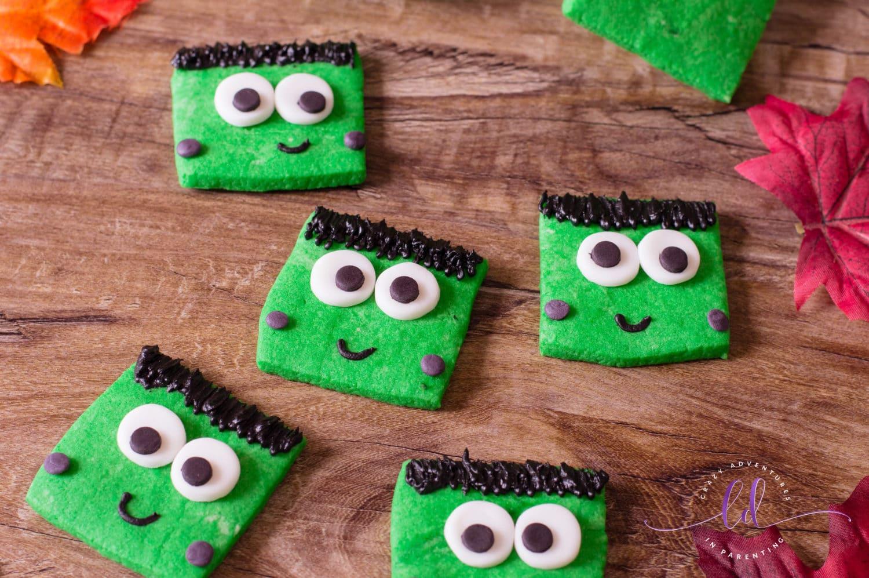 Cute Frankenstein Cookies